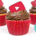 Cupcake de Baunilha, Frutas Vermelhas e Chocolate