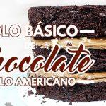 Massa de Bolo de Chocolate Estilo Americano