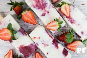 Sorvete Cheesecake de Morango