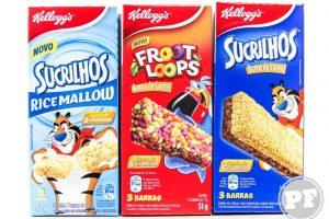 PraComer: Barras de Sucrilhos, RiceMallow e Froot Loops da Kellogg's
