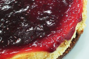 Cheesecake New York com Frutas Vermelhas